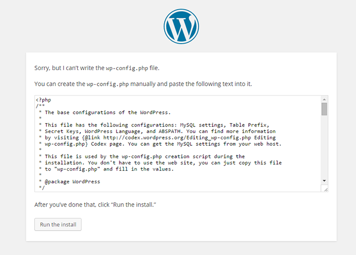 how-to-install-wordpress-manually-error-message